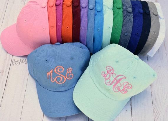 03c01250619 Monogrammed Womens Baseball Cap Womens baseball hat