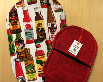 Hot Sauce Bottles - Pot Holder Mitt
