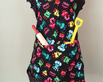 Silly Monsters - Child's Reversible Chef Apron