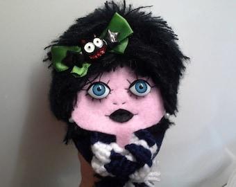 Felt Brooch Portrait Art Doll Batty Joni