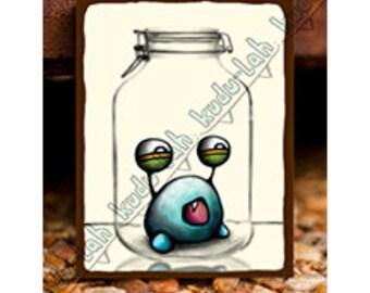 Plumb (Mason Jar Critter Art)