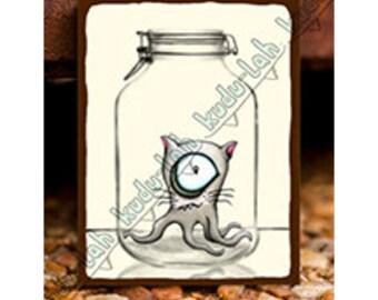 Cat-o-Pus (Mason Jar Critter Art)