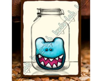 bear-bear (Mason Jar Critter Art)