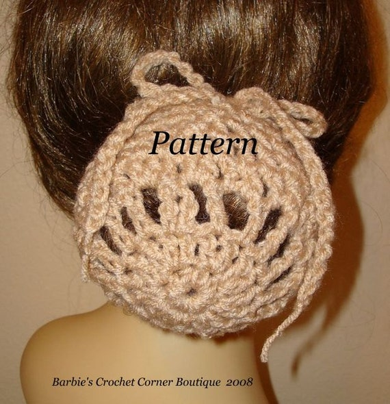 Pattern Crochet Ballerina Large Bun Cover Snood Patternpdf Etsy