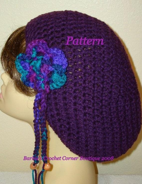 Pattern Crochet Slouchy Rasta Tam Hat W Removable Flower Or Etsy