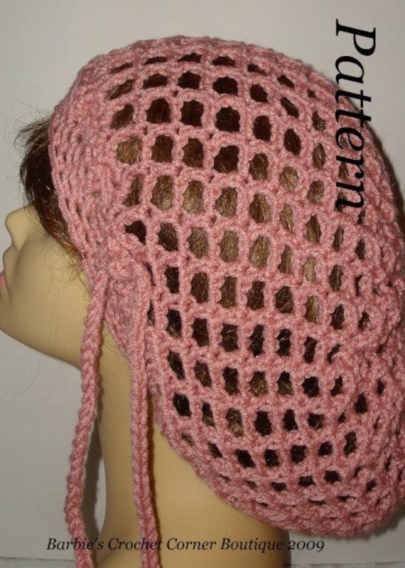 Pattern Unisex Easy Crochet Slouchy Open Mesh Rasta Tam Hat Etsy