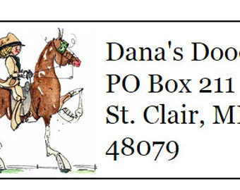 Saddlebred English Pleasure Return Address Labels -120 labels