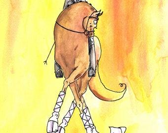 My goodness!  X Dressage Horse Art Print