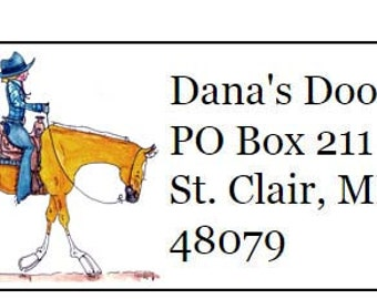 Palomino Western Horse Silhouette Return Address Labels -120 labels