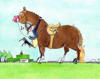 Pasture Passion.  Hunter Horse Equestrian Artwork