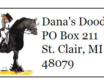 Friesian Horse Return Address Labels -120