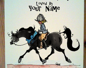 Black Hunter Horse Stall Sign up to four lines of personalization
