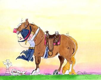 Love on the Range Horse art print