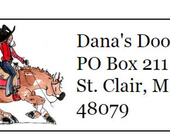 Reining Horse Return Address Labels 120
