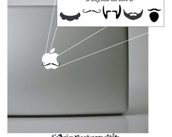 Mustache/Beard set 3 Vinyl Macbook Decal