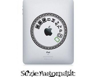 Canon 5D MKII Mode Dial iPad Vinyl Decal