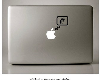 Macbook Decal Reminiscing Apple Macbook Vinyl Decal