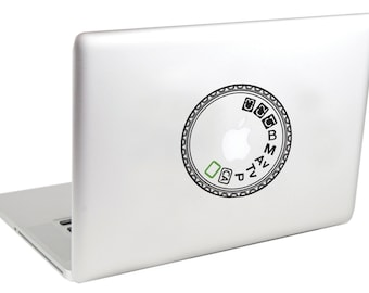 Canon 5D MK II Mode Dial Laptop Decal by Suzie Automatic