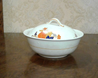 Vintage Autumn Leaves covered Butter Dish