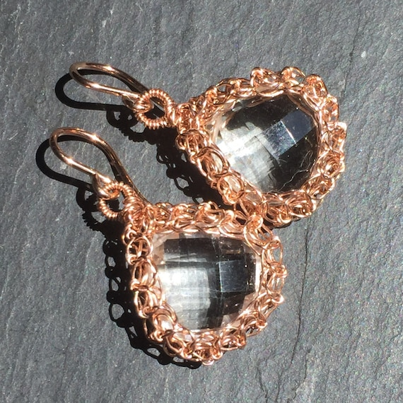Rose Gold  Nest Earrings...