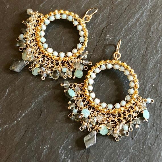 Seaglass Chandelier Earrings