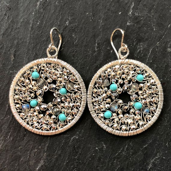 Pebbled earrings