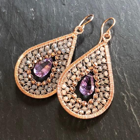 Boysenberry Earrings