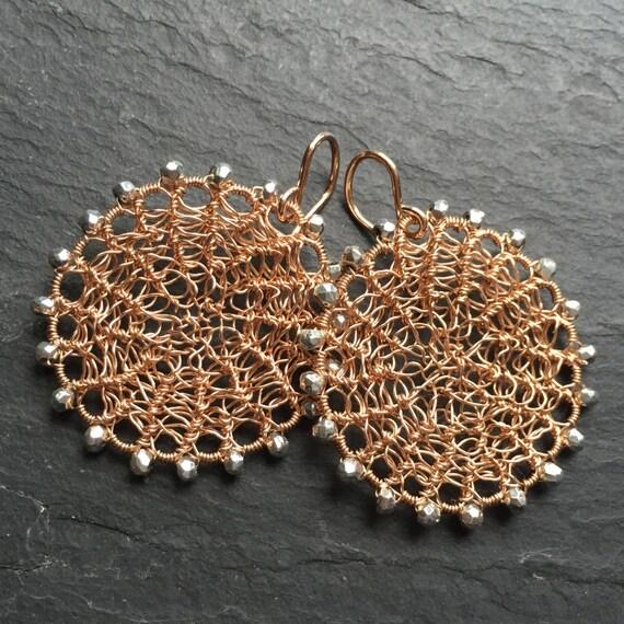 Rose Disk Earrings
