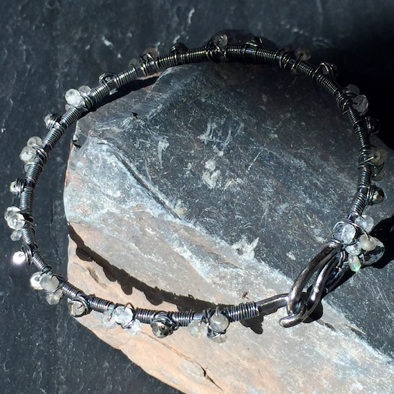 Blackened Silver Bangle
