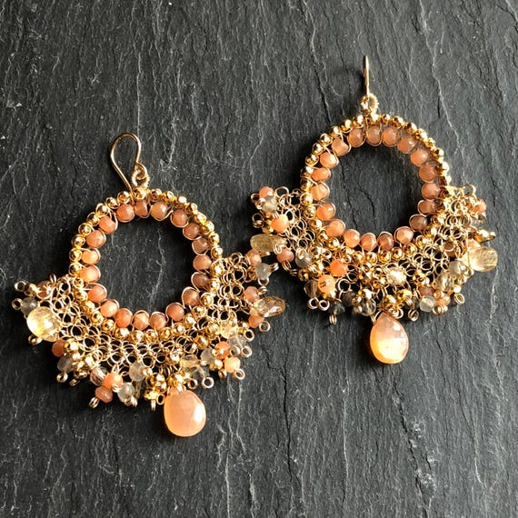 Sunset Chandelier Earrings