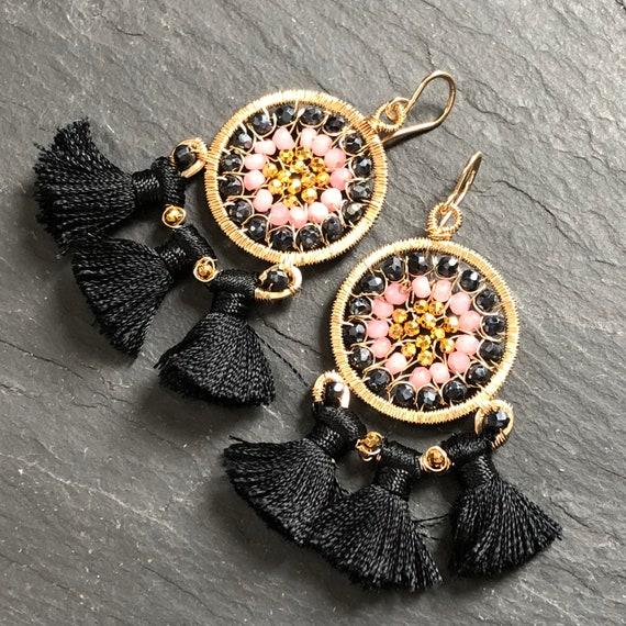 Carnival Earrings in Black