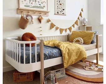 Duvet Set, single bed bedding set bedding bundle fitted sheet printed bedding, pillowcases, organic cotton, unisex bedding set, boys bedding