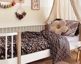Single bed Duvet Set bedding set bedding bundle fitted sheet printed bedding pillowcases floral bedding organic cotton kids beddings girls