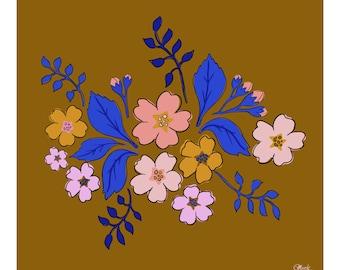 Primula Floral Fine Art Print Poster Wall Art