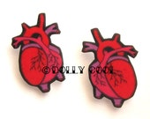 Anatomical Heart Earrings by Dolly Cool