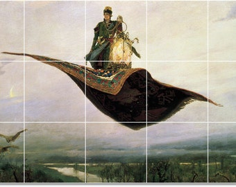 Viktor Vasnetsov Sirin Alkonost Joy Sorrow Counted Cross Stitch Chart Pattern
