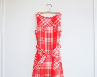 Vintage Red and White Girl's Dress