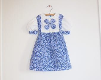 Vintage Blue and White Girl's Dress