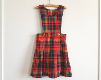 Vintage Red Plaid Girl's Dress