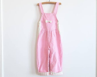 Vintage Pink Corduroy Overalls