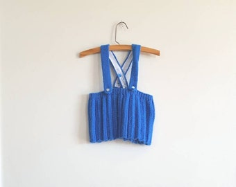 Vintage Royal Blue Knit Skirt