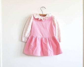 Vintage Pink Corduroy Dress