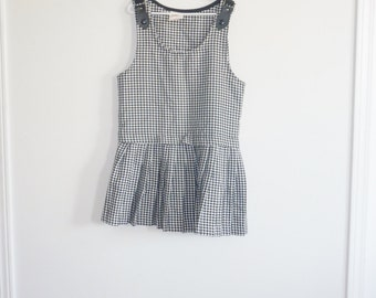 Vintage Black and White Checked Dress