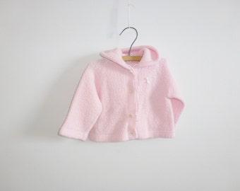 Vintage Pink Baby Cardigan