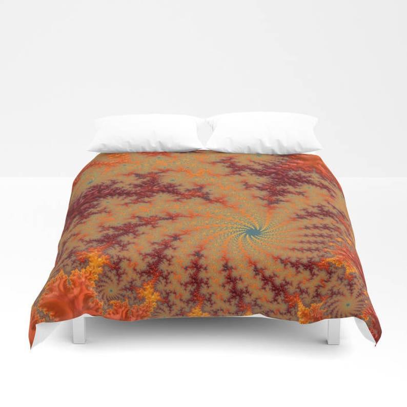 Red Orange Yellow Duvet Cover Or Comforter Geometric Design Etsy