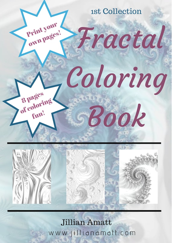 Fractal Coloring Book!, Sacred Geometry Downloadable PDF Coloring Pages,  Trippy Psychadelic Color Your Own Pages, Digital Download