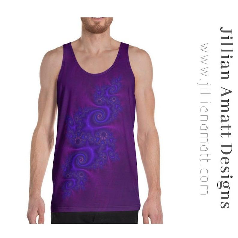DeepPurple Men/'s Tank Top Vest Sleeveless t-shirt white-gray