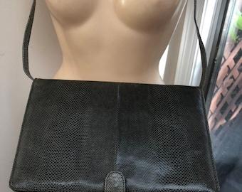 c9f97c3c3313 Vintage Susan Gail gray snake skin clutch shoulder bag