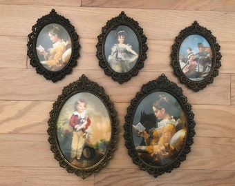 oval picture frames etsy