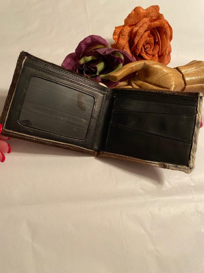 men/'s hair calf wallet Vintage hair calf leather folding wallet men/'s brown black beige fur wallet men/'s folding wallet men/'s fur wallet